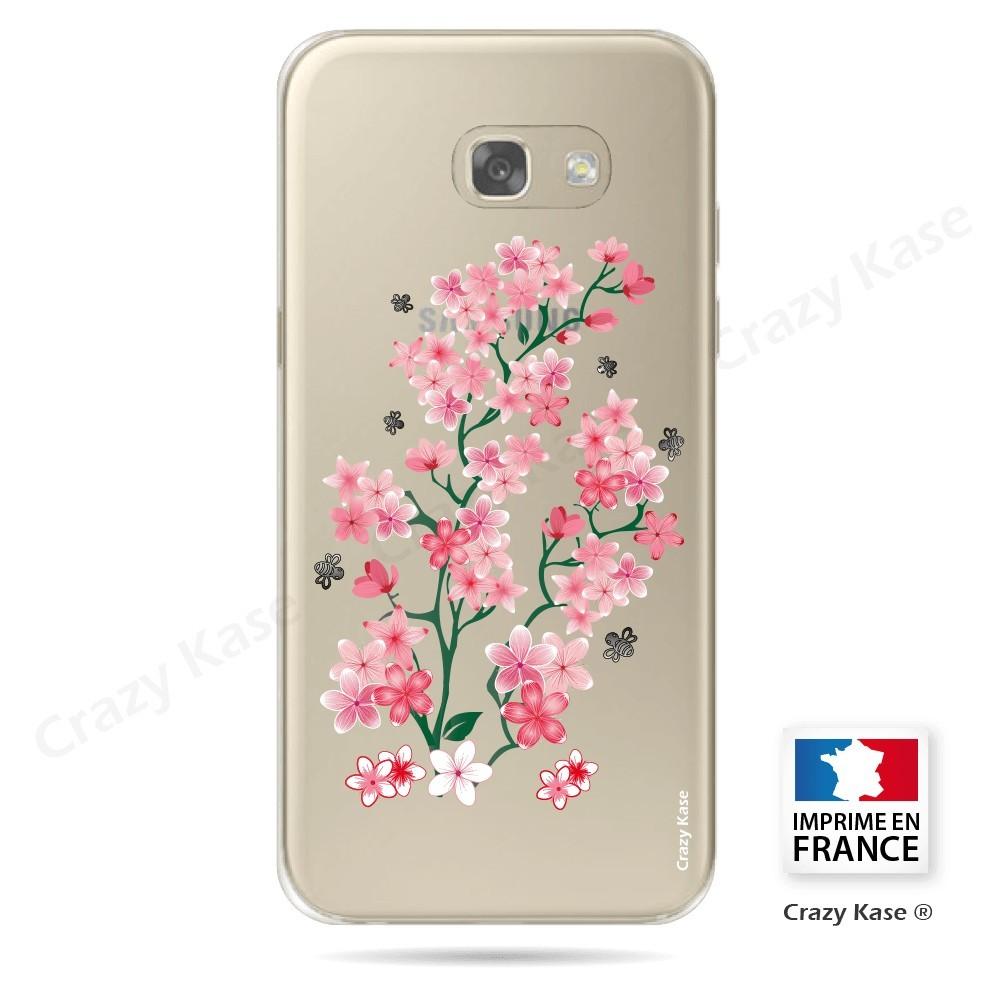 Coque Galaxy A3 (2016) Transparente et souple motif Fleurs de Sakura - Crazy Kase
