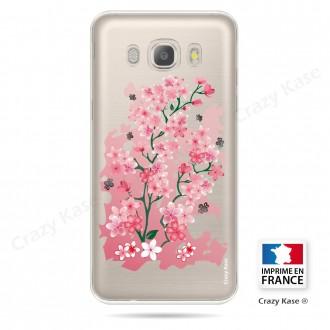 Coque Galaxy J5 (2016) Transparente et souple motif Fleurs de Cerisiers - Crazy Kase