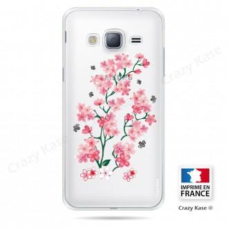 Coque Galaxy Core Prime Transparente souple motif Fleurs de Sakura - Crazy Kase