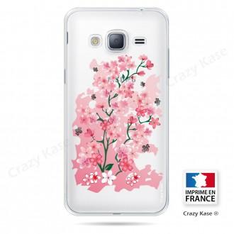 Coque Galaxy Core Prime Transparente souple motif Fleurs de Cerisier - Crazy Kase