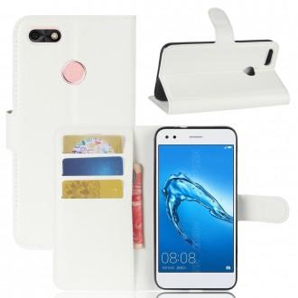 Etui Huawei Y6 Pro (2017) Porte-cartes grainé blanc - Crazy Kase