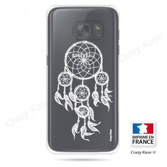 Coque Galaxy S7 Transparente et souple motif Attrape Rêves Blanc - Crazy Kase