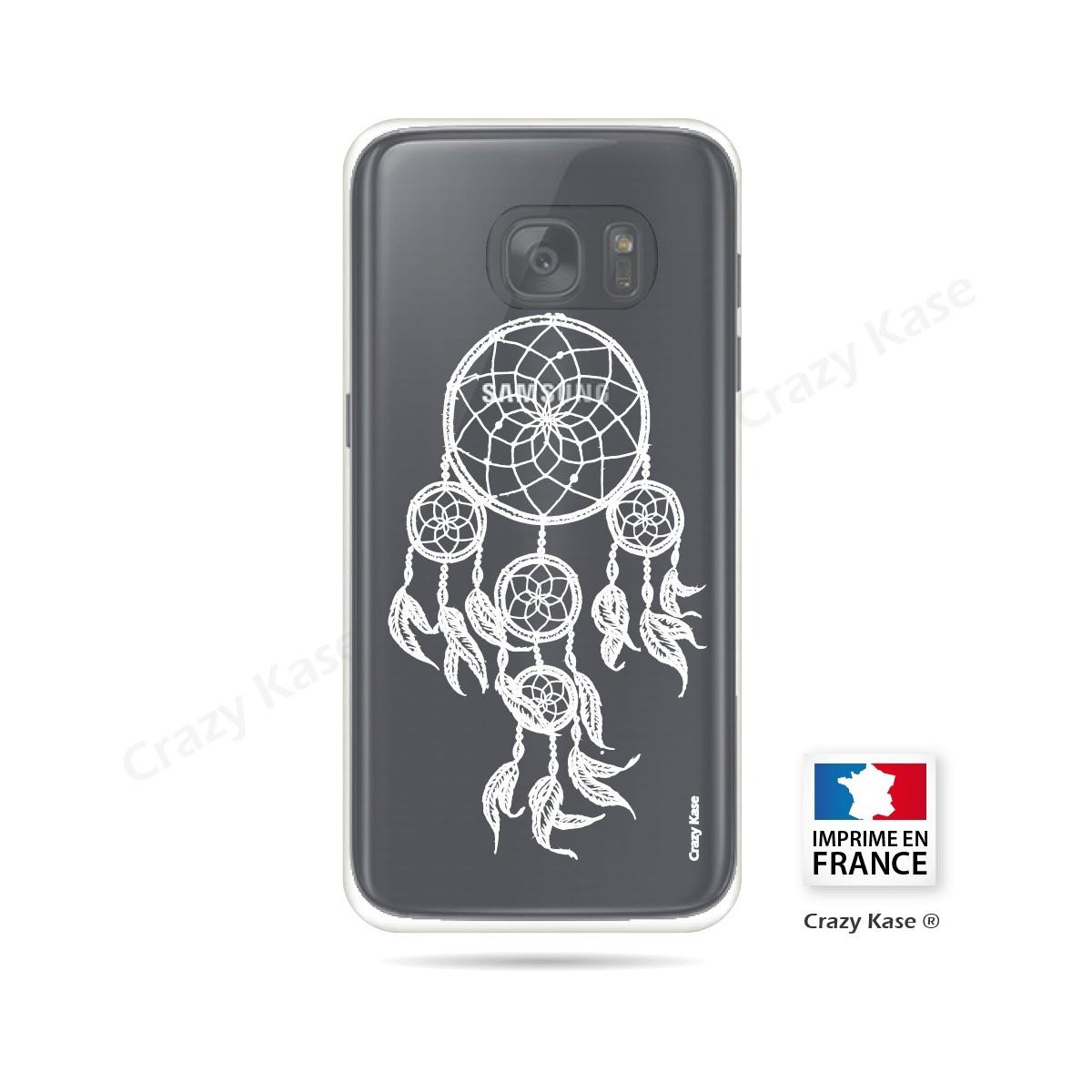 Coque Galaxy S7 Transparente et souple motif Attrape Rêves Blanc - Crazy Kase