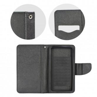 Etui smartphone universel 5.3 à 5.8 pouces portecartes noir - Crazy Kaze