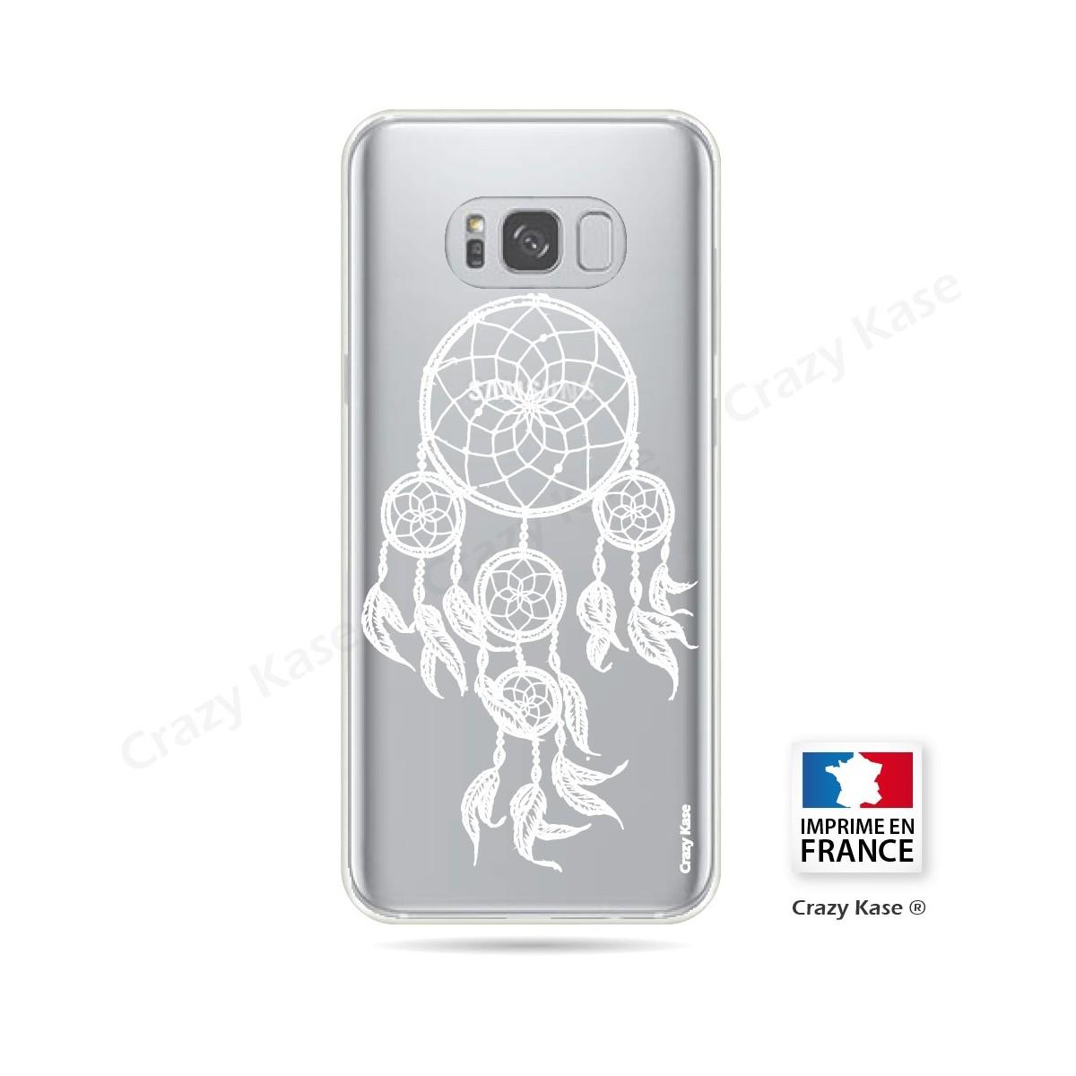 Coque Galaxy S8 Transparente et souple motif Attrape Rêves Blanc - Crazy Kase