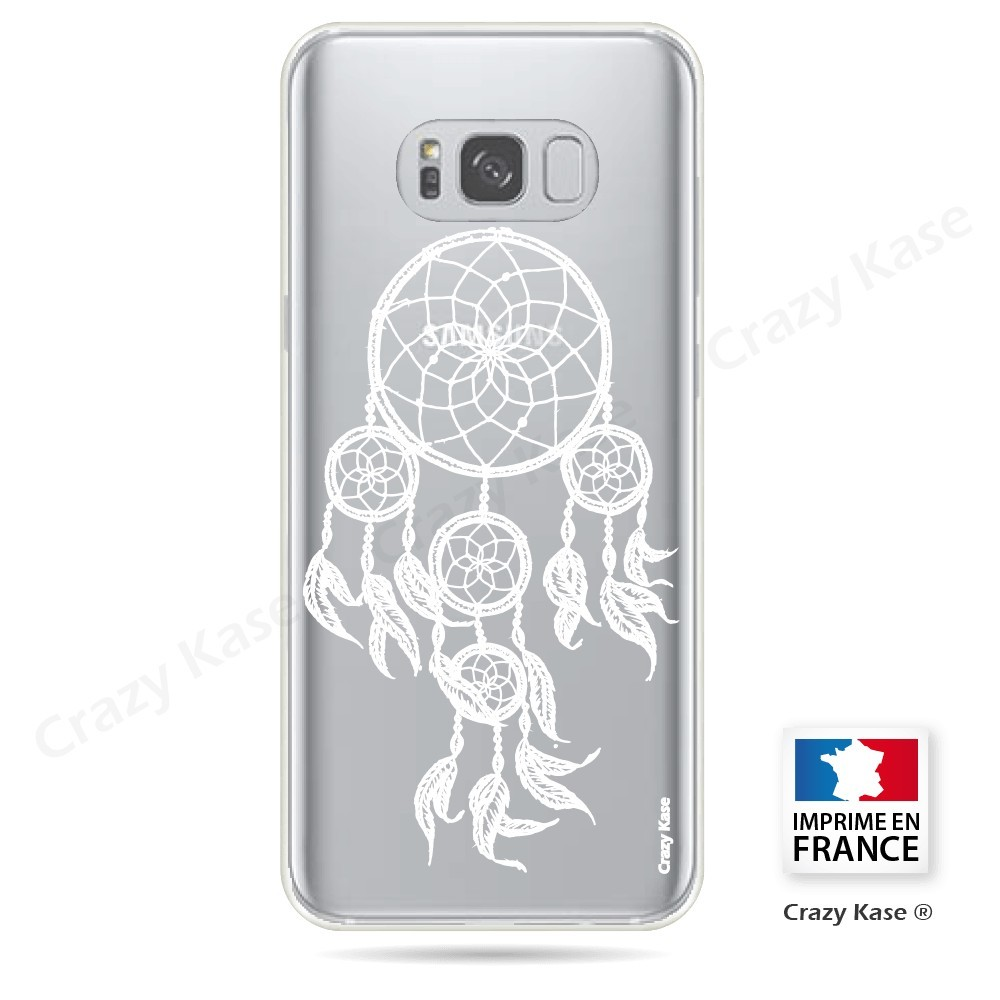 Coque Galaxy S8 Plus Transparente et souple motif Attrape Rêves Blanc - Crazy Kase