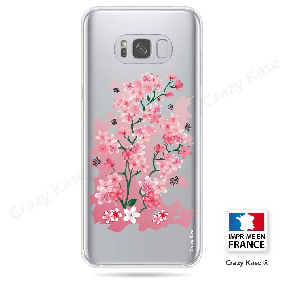 Coque Galaxy S8 Plus Transparente souple motif Fleurs de Cerisier - Crazy Kase