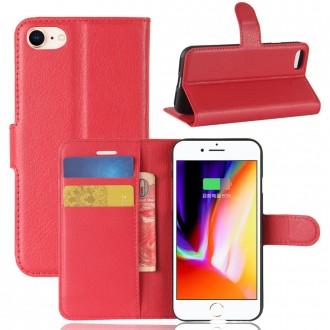 Etui iPhone 8 / 7 Porte cartes Rouge - Crazy Kase