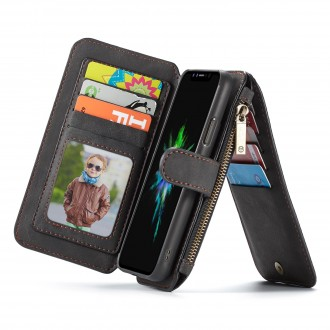 Etui iPhone X Portefeuille multifonctions Noir - CaseMe