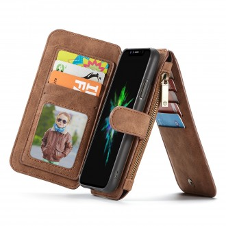 Etui iPhone X Portefeuille multifonctions Marron - CaseMe