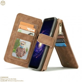 Etui Galaxy S8 Plus Portefeuille multifonctions Marron - CaseMe