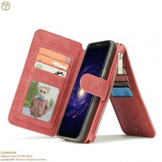 Etui Galaxy S8 Plus Portefeuille multifonctions Rouge - CaseMe