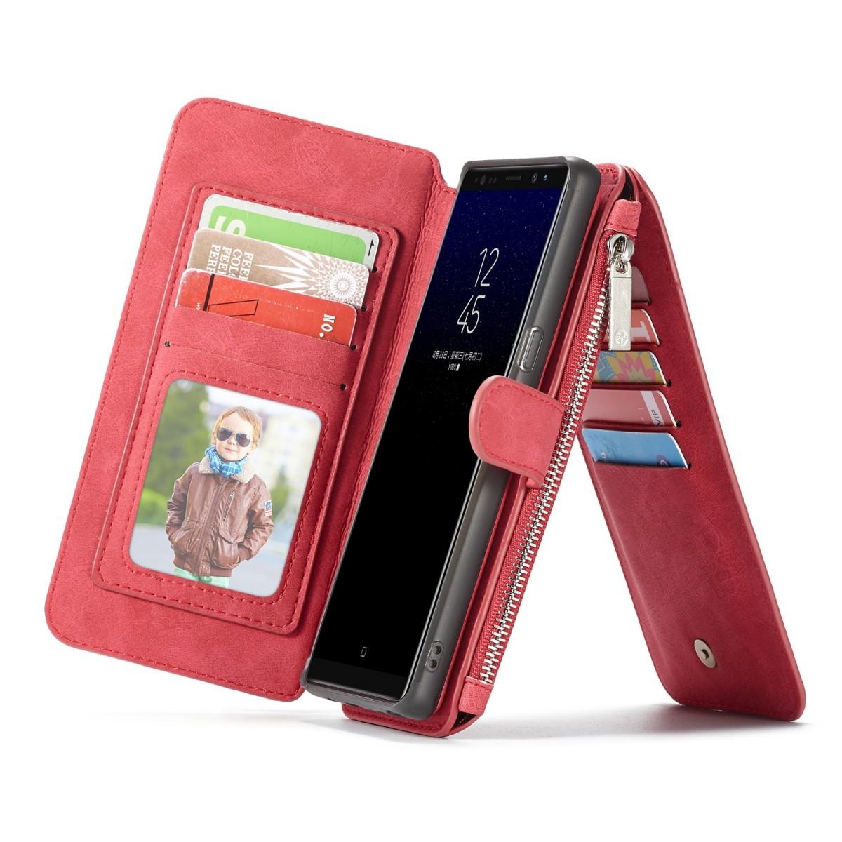 Etui Galaxy Note8 Portefeuille multifonctions Rouge - CaseMe