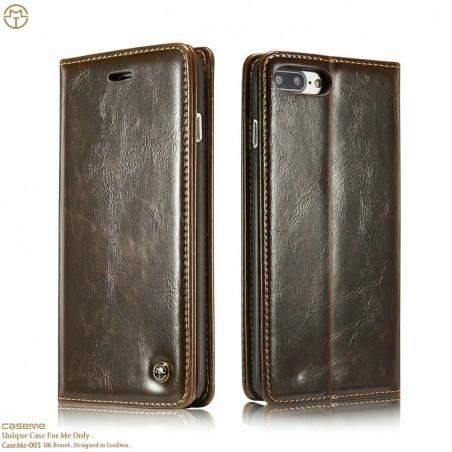 Etui iPhone 8 Plus / 7 Plus Porte-carte Marron - CaseMe