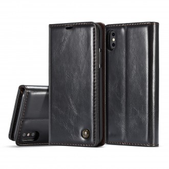Etui iPhone X Porte-carte Noir - CaseMe