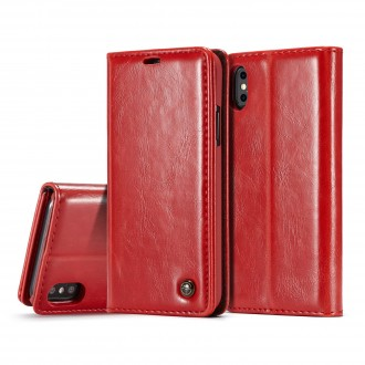 Etui iPhone X Porte-carte Rouge - CaseMe