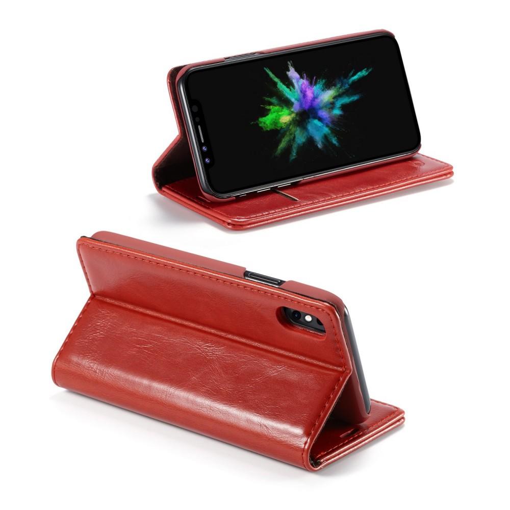 Etui iPhone X Porte-carte Rouge - CaseMe