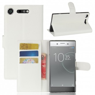 Etui Xperia XZ1 Porte cartes Blanc - Crazy Kase