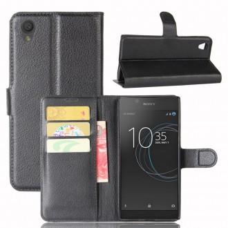 Etui Xperia L1 Porte cartes Noir - Crazy Kase