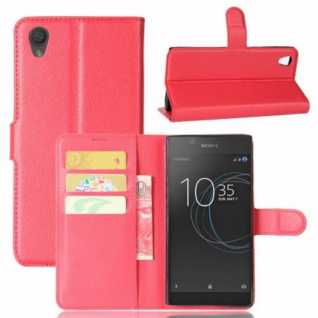 Etui Xperia L1 Porte cartes Rouge - Crazy Kase