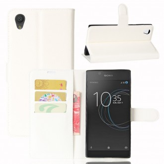 Etui Xperia L1 Porte cartes Blanc - Crazy Kase