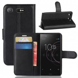 Etui Xperia XZ1 Compact Porte cartes Noir - Crazy Kase