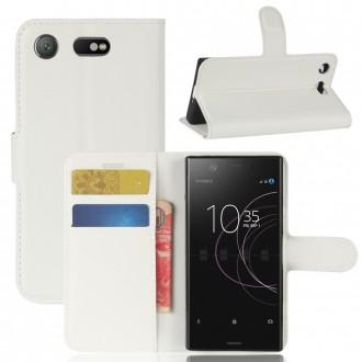 Etui Xperia XZ1 Compact Porte cartes Blanc - Crazy Kase