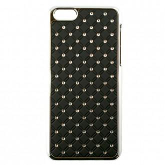 Coque iPhone 5C Noir avec strass - Crazy Kase
