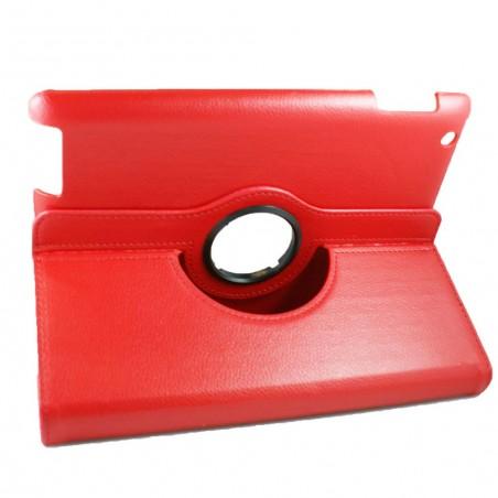 Etui iPad 2 / 3 / 4 rouge rotatif 360 degrés - Crazy Kase