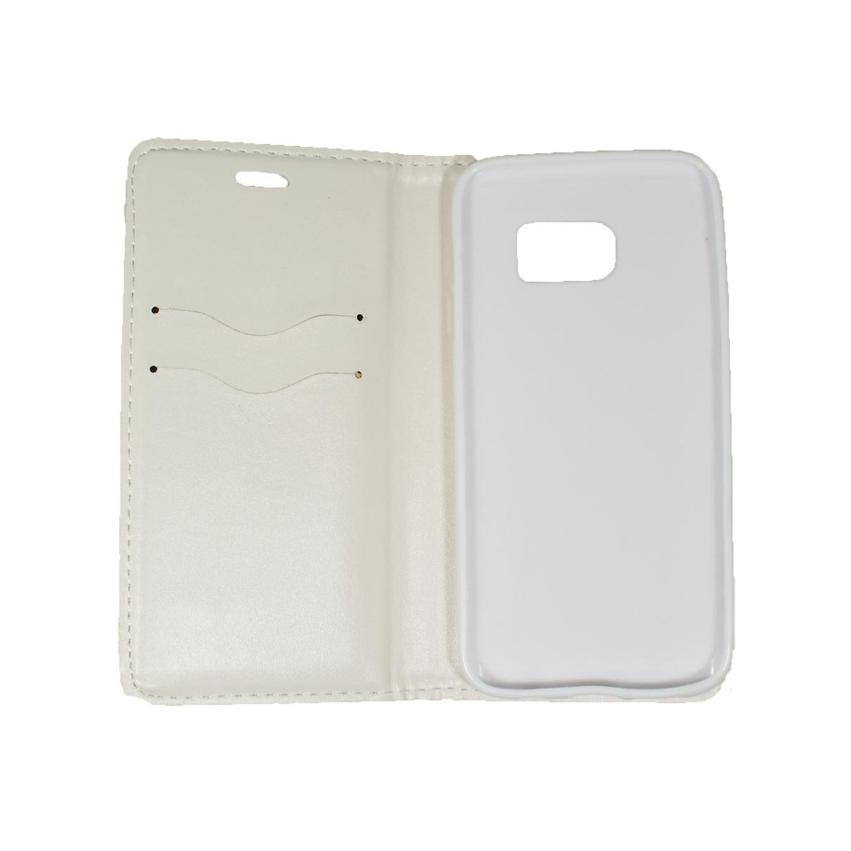 Etui iPhone Galaxy S7 Porte-cartes Blanc - Crazy Kase
