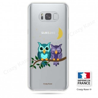 Coque Galaxy S8 souple motif chouettes au clair de lune - Crazy Kase