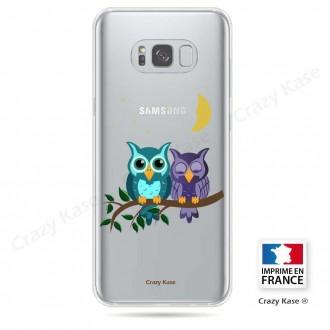 Coque Galaxy S8 Plus souple motif chouettes au clair de lune - Crazy Kase