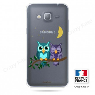 Coque Galaxy Grand Prime souple motif chouettes au clair de lune - Crazy Kase