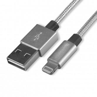 Câble USB vers connecteur Lightning Gris 1 mètre en vrac - 4smarts