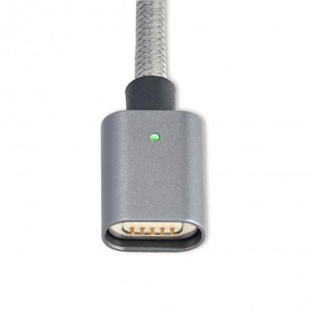 Câble USB vers connecteurs USB Type-C  et Micro USB magnétiques Gris 1 mètre - 4smarts