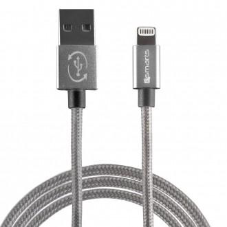 Câble USB vers connecteur Lightning 2 mètre Gris - 4smarts