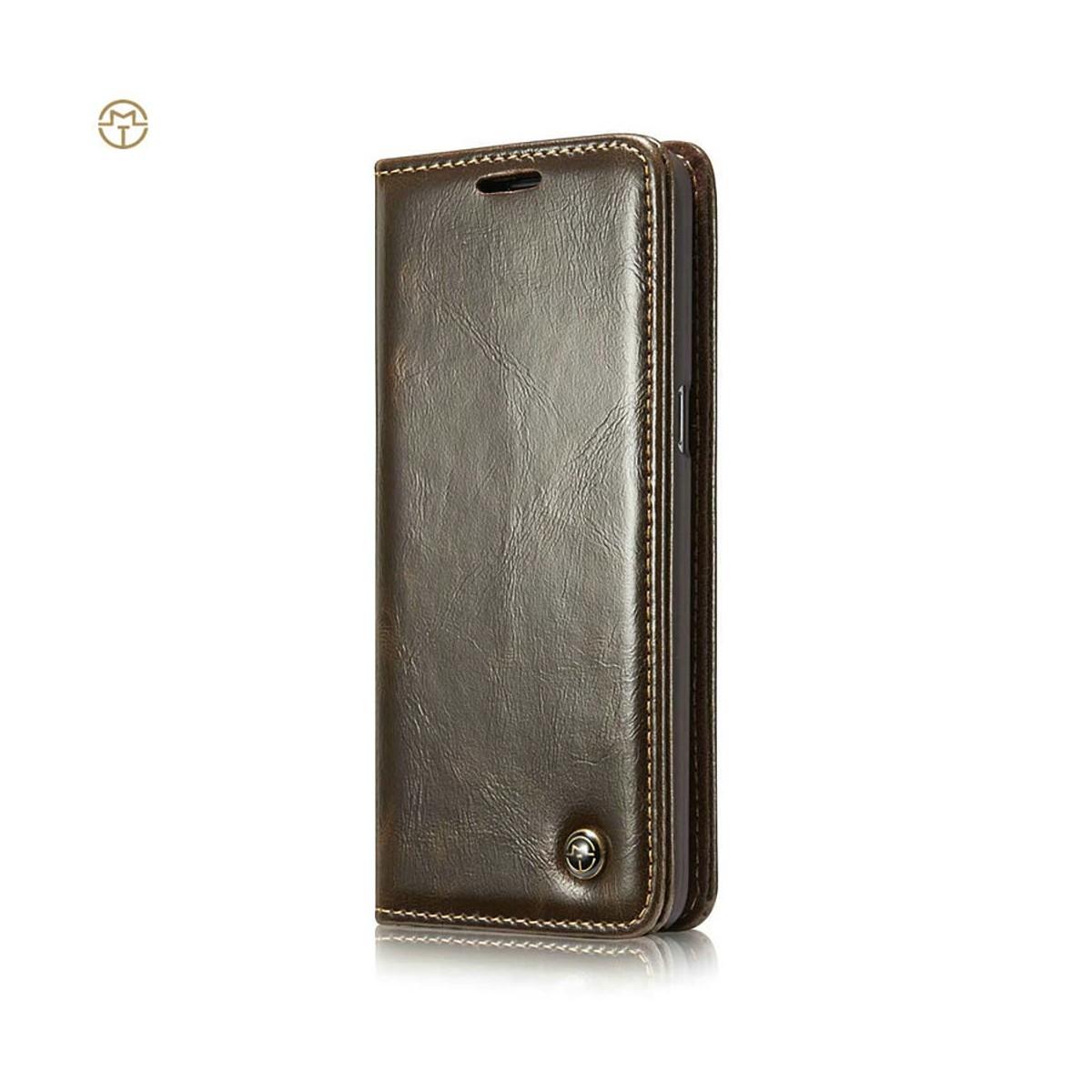Etui Galaxy S8 Porte cartes Marron - CaseMe