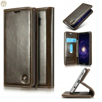 Etui Galaxy S8 Plus Porte cartes Marron - CaseMe