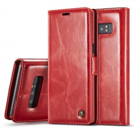Etui Galaxy Note 8 Porte-carte Rouge - CaseMe