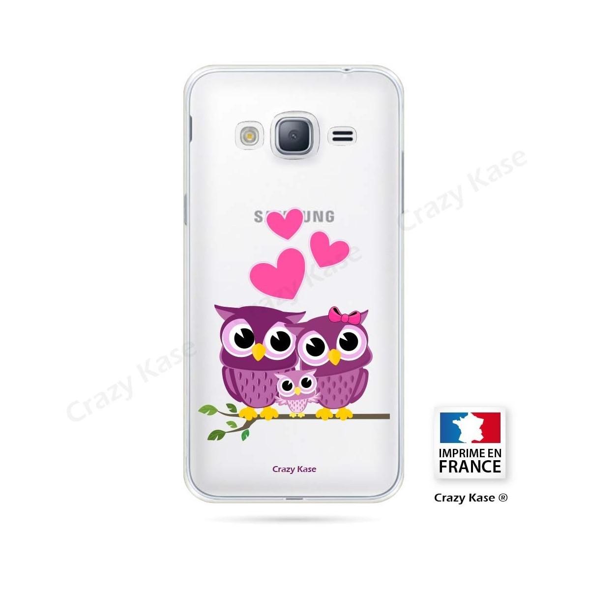 Coque Galaxy Core Prime souple motif Famille Chouette - Crazy Kase