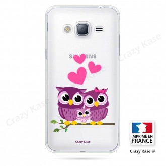 Coque Galaxy Grand Prime souple motif Famille Chouette - Crazy Kase
