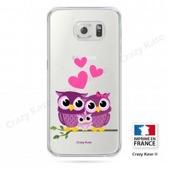 Coque Galaxy S6 souple motif Famille Chouette - Crazy Kase