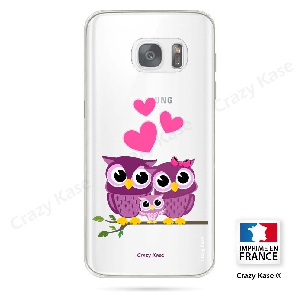 Coque Galaxy S7 Edge souple motif Famille Chouette - Crazy Kase