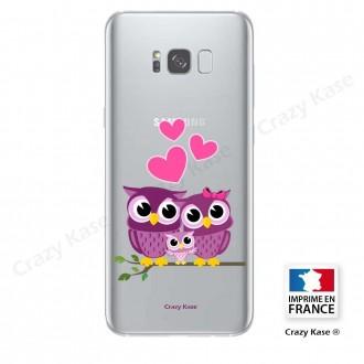 Coque Galaxy S8 souple motif Famille Chouette - Crazy Kase