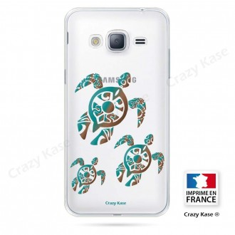 Coque Galaxy Grand Prime souple motif Famille Tortue - Crazy Kase