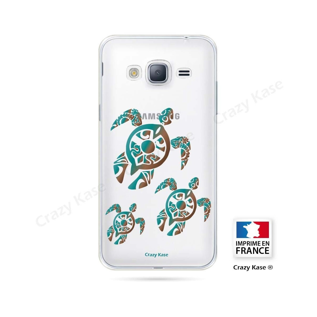Coque Galaxy J3 (2016) souple motif Famille Tortue - Crazy Kase