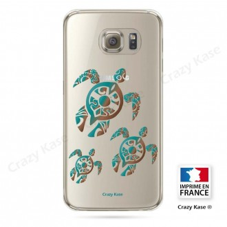 Coque Galaxy S6 Edge souple motif Famille Tortue - Crazy Kase