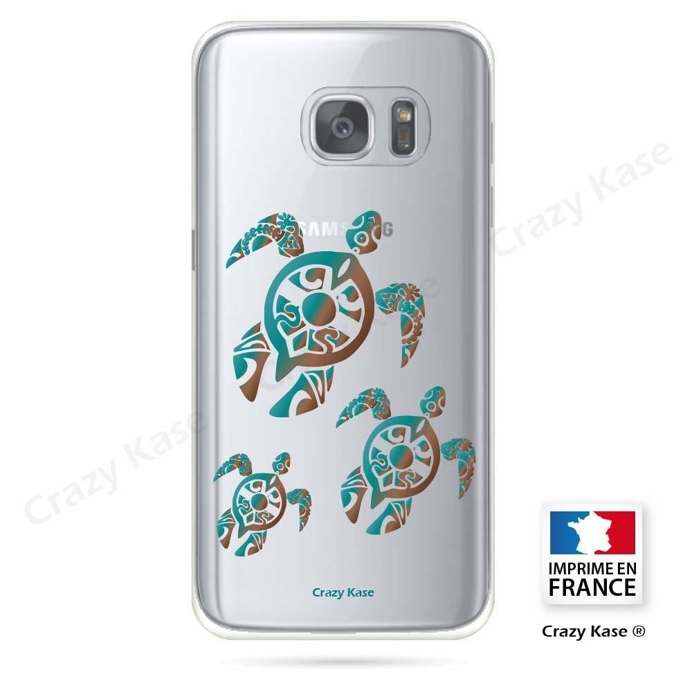 Coque Galaxy S7 souple motif Famille Tortue - Crazy Kase