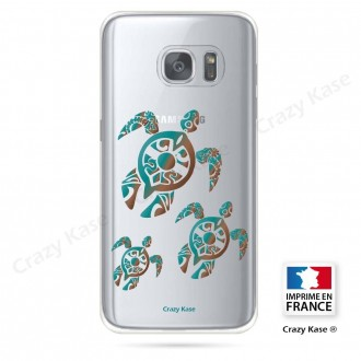 Coque Galaxy S7 Edge souple motif Famille Tortue - Crazy Kase