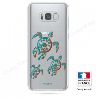 Coque Galaxy S8 souple motif Famille Tortue - Crazy Kase